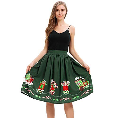 Kerstmis Digitale Printing Temperament Taille Rok, Mode geplooide Tutu Rokken En Lange Secties Ms. A-S