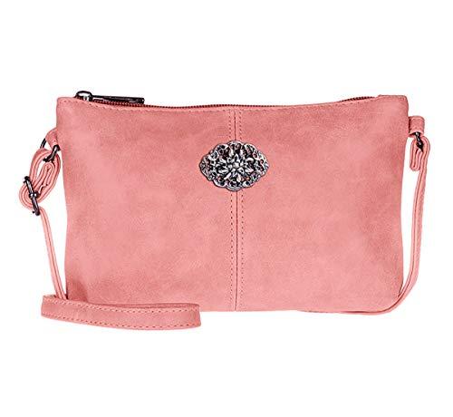 Trachtentasche Dirndltasche kleine Umhängetasche Kunst-Leder alt-rosa
