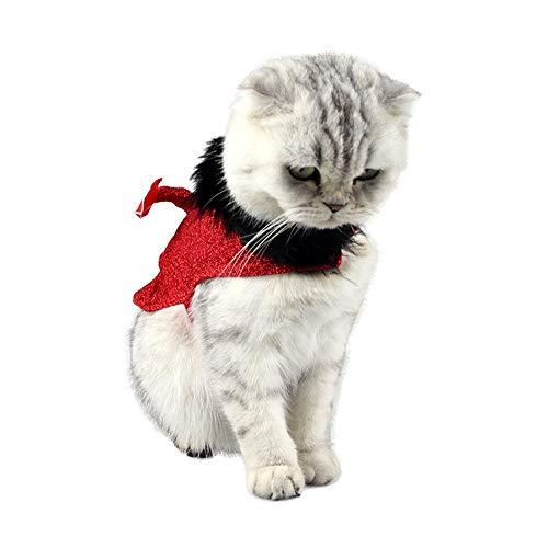 Disfraces de Mascotas para Gatos/Perros Cat Pet Cloak Disfraces Ropa Pet Dress Up Accesorios for Pascua Halloween Funny Clothes Festival Fit La mayora de los Gatos y Perros pequeos Accesorios de V