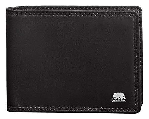 Brown Bear, men's small leather wallet, 8061, BBCL 8061 bk, 01 black