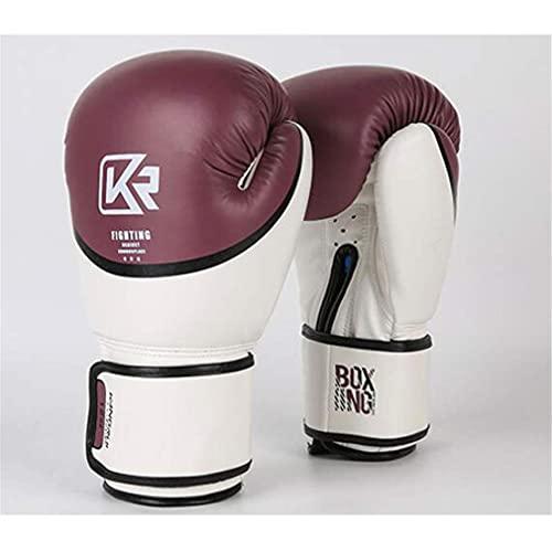 YQCX 8Oz - Guantes de Entrenamiento de Boxeo de 12 Oz Boxeo, Guantes de Entrenamiento de Artes Marciales de Muay Thai Sanda, con Letras de Impresión, para Combate, Lucha de Kickbox