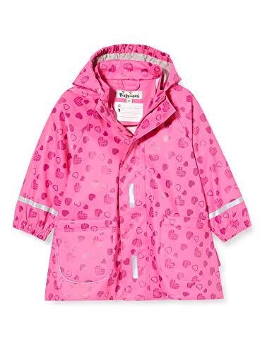 Playshoes Mädchen Herzchen Allover Regenmantel, Pink, 86