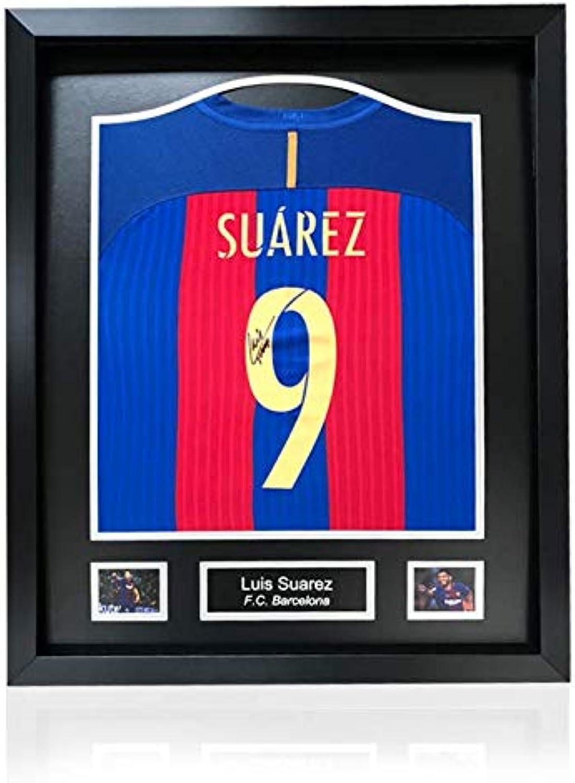 half off 14ed6 3e6af Luis Suarez Hand Hand Hand Signed Barcelona Home Shirt in ...
