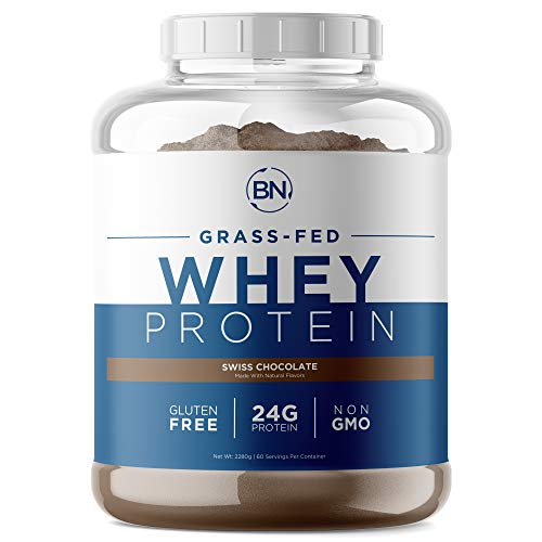 Grass Fed Whey Protein Powder - 100% Natural and Pure – 24g High Protein - 5lb/75 Servings - Cold Processed Undenatured - Non-GMO - rBGH-Free - High Quality from Wisconsin USA