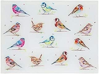 The Leonardo Collection Country Life Garden Birds Glass Cutting Chopping Board Worktop Saver Protector …