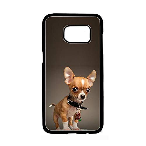 Cajas De Plástico Rígido Duro Hermosa para Niños Compatible con Samsung Galaxy S 6 Edge con Chihuahua 2 Choose Design 85-4