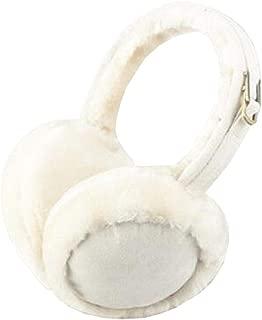 Chinashow Unisex Super Soft Folding Earmuffs Winter Earmuffs Ear Warmers,Offwhite