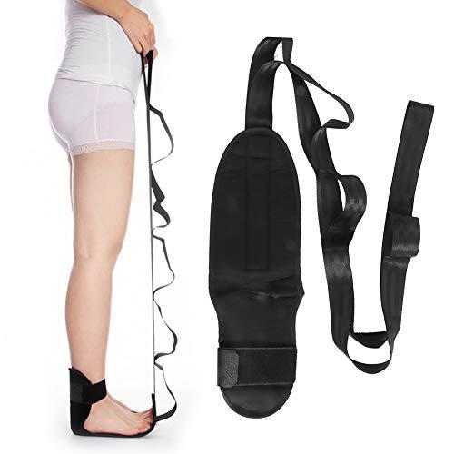 Cinturón de entrenamiento de piernas, estiramiento profesional Cinturones correctores de corrección Cinturón de estiramiento de ligamentos de yoga Férulas correctoras de tobillo y pie con bucles