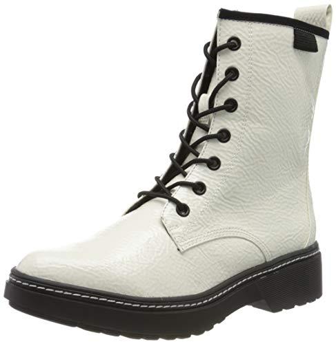 Tamaris Damen 1-1-25224-23 Biker Boots, Weiß (White Patent 123), 41 EU