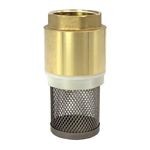 VARIOSAN Vanne à pied 14153 1' - Clapet anti-retour - Laiton - Panier en acier inoxydable