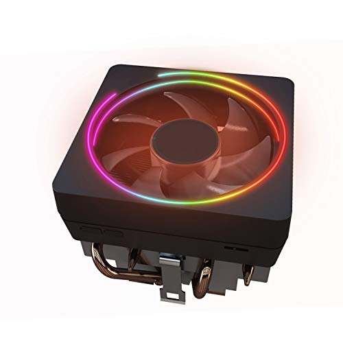 for AMD Wraith Prism LED RGB Cooler Fan from Ryzen 7 2700X Processor AM4/AM2/AM3/AM3+ 4-Pin Contact Heat Sink w/Bracket,Socket Retention Mounting Bracket for Hook-Type Air-Cooled w/Thermal Paste