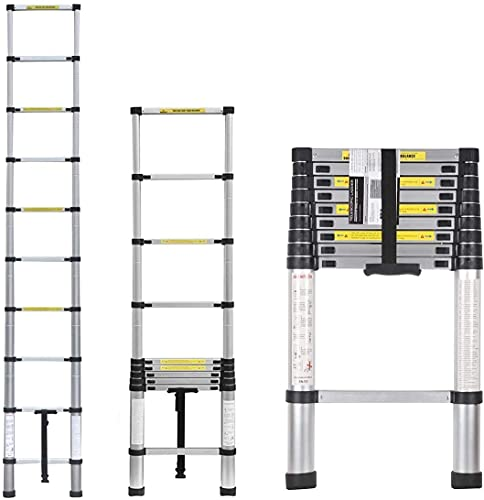 Multibao Telescopic Loft Ladder 3.2m/10.5ft Aluminum Lightweight Portable...