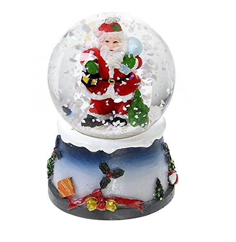 AC-Déco Boule à Neige Lumineuse avec Paillettes - Décoration De Noël