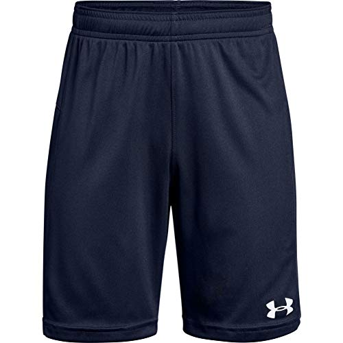 Under Armour Boys' Golazo 2.0 Soccer Shorts , Midnight Navy (410)/White , Youth X-Large