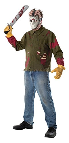 Rubie's Set Jason Voorhees Venerdì 13 per adulto (15806) Kit costume, Verde, Men:40-42