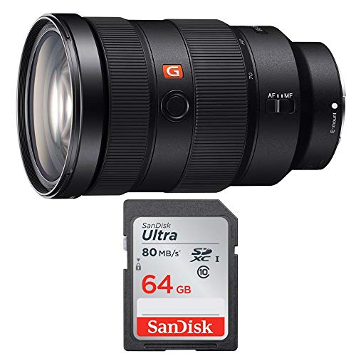 Sony FE 24-70mm f/2.8 GM Lens 64 GB SD Card