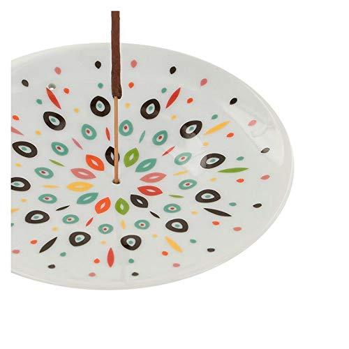 Aromandise Coupelle Porte-encens en Porcelaine - Samba