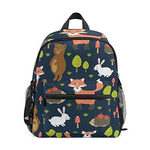 Kinderrucksack Wald niedlichen Füchse Kindergarten Vorschule Tasche für Kleinkind Mädchen Jungen