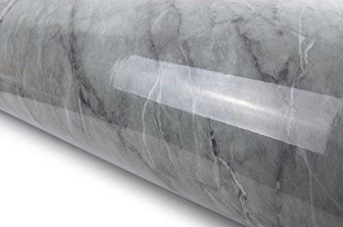 Vinylfolie, Granitoptik, Marmor-Effekt, selbstklebend, für die Theke (dunkelgrauer Marmor (2 m)