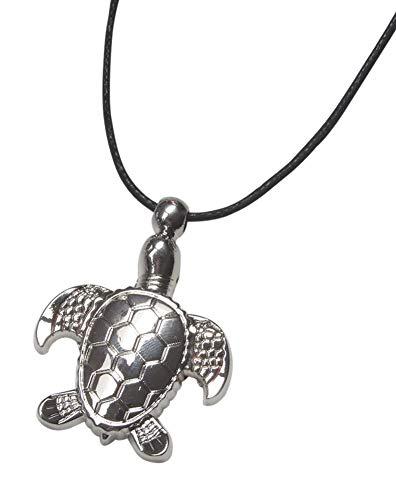Unbekannt Générique Halskette mit Anhänger Schildkröte aus versilbertem Stahl