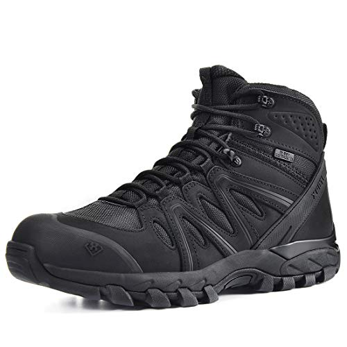 XPETI Men's X-Force Men's Waterproof Hiking Boots Lightweight Work Boots Military Tactical Boots Durable Combat Boots
