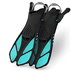 【ADJUSTABLE STRAPS AND BUCKLES】Open heel design and adjustable straps make the swim fins suitable for different foot types and sizes, perfect to share with your friends and family, in addition it will let small pebbles and debris fall. The important ...