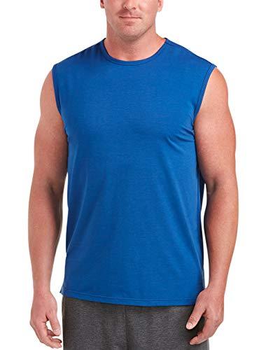 Amazon Essentials Men's Big & Tall Performance Cotton Muscle Tank fit by DXL, True Blue, 2XL