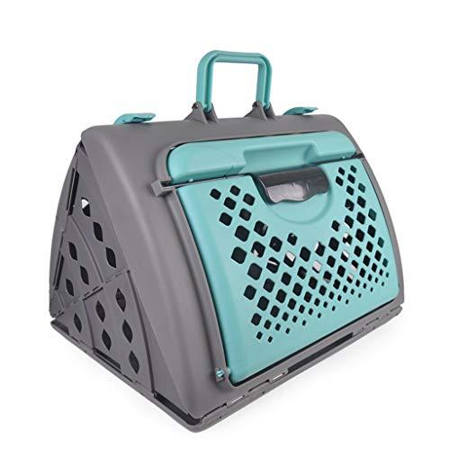 IAOHUO Transportbox - In Übereinstimmung mit den IATA-Anforderungen für die Beförderung lebender Tiere, großer Transportbox für den Transport von Haustieren, ausklappbarer tragbarer Hundekäfig