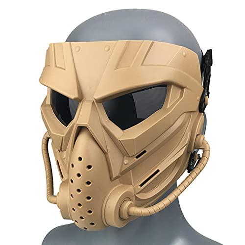 QAVILFLY Mascarillas transparentes de cara completa, máscara de cráneo, modo dual con diseño de correa ajustable para Halloween, cosplay, fiesta, talla única, negro, verde, gris tostado (C1)