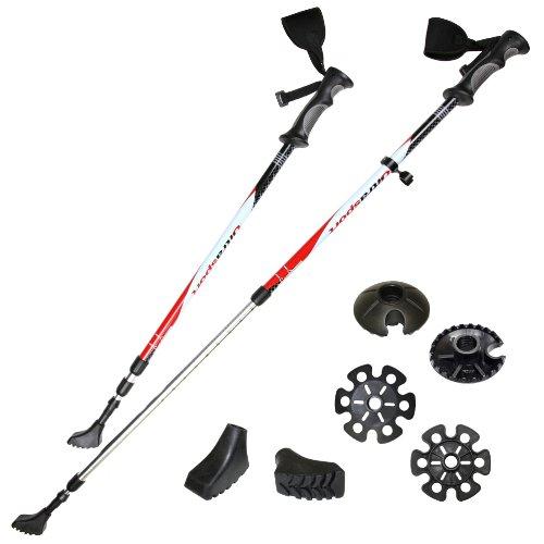 Ultrasport 3 en 1 - Bastón de senderismo, trekking y esquí para todo el año, longitud de 71 cm a...