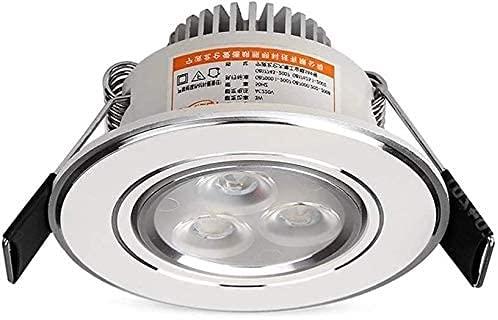 PJDOOJAE Brillante pequeño agujero toro luz de ojo pequeño foco pequeña miniatura 3w lámpara de pared simple y fresca lámpara de pared súper led incorporado panel de techo luz mazorca foco foco de alu