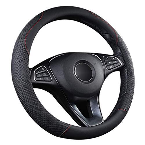 Funda para volante de coche, de piel universal, transpirable, antideslizante, para vehículos de 38 cm