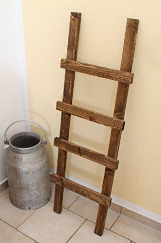 Uncle Joe´s Dekoleiter Handtuchhalter, Vintage, Shabby chic Holz 118 x 39 x 5 cm, Dunkelbraun