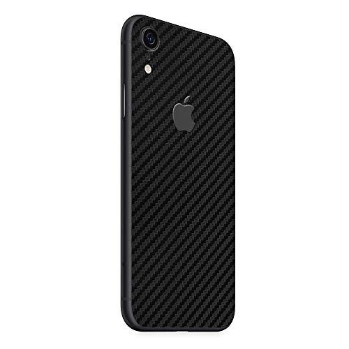 Normout iPhone XR Schutzfolie Rückseite Carbon Schwarz- 2X Schutzfolie iPhone XR Backcover , iPhone XR Rückseite Glas - Schützt vor Kratzern, Beschädigungen, Schmutz & Fingerabdrücken