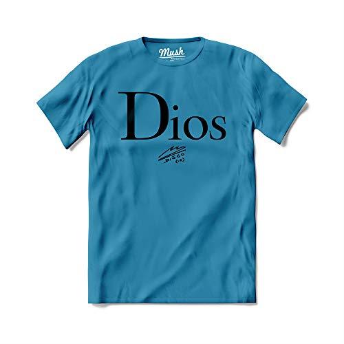 Mush dressyourstyle T-Shirt Dios Diego 10 Uomo - Famous Sport - Maglietta a Manica Corta 100% Cotone Organico - S