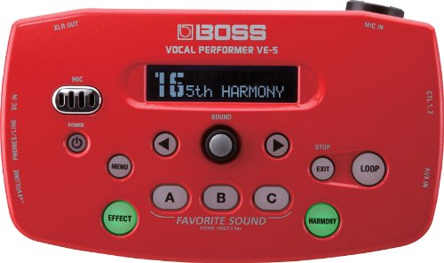 BOSS ボス Vocal Performer レッド VE-5-RD