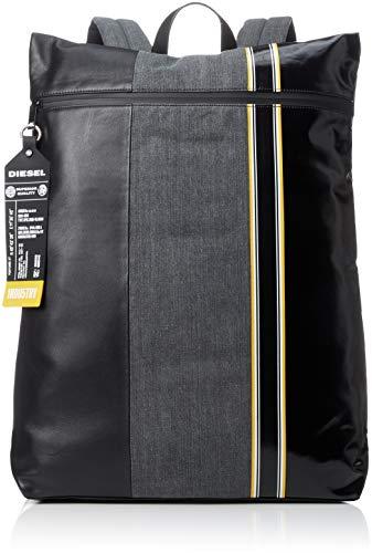 Diesel Herren D-TOLLE Back-Backpack Rucksäcke, Grau Denim/Schwarz, Einheitsgröße