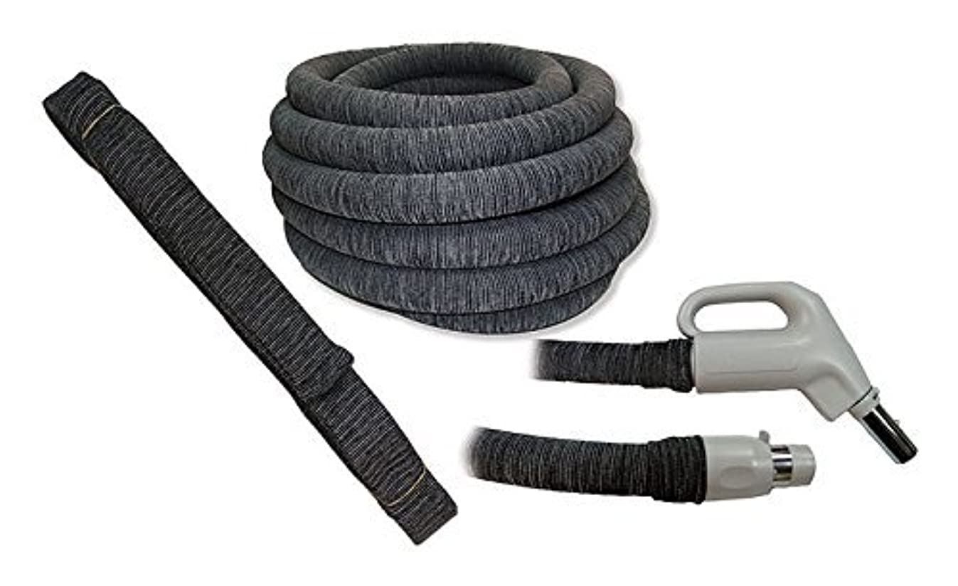 Soc It 30FT - Knitted Central Vacuum Hose Cover Installation Tube - Charcoal Grey