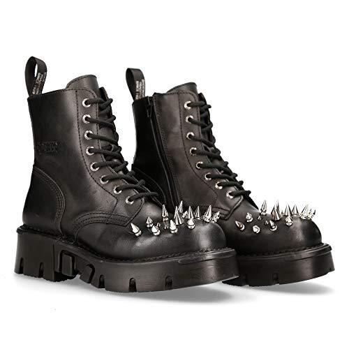 Damen Style TR003 S8 Schwarz New Rock Boots Womens Punk Gothic Stiefel