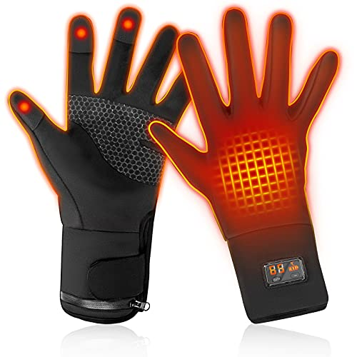 Rechargeable Electric Battery Heated Gloves for Men and Women (M)