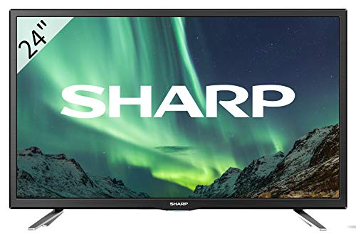 Sharp Aquos LC-24CHG5112E - 24' HD Ready LED TV, DVB-T2/S2, 1366 x 768 Pixels, Nero, 2xHDMI 1xUSB, 2019