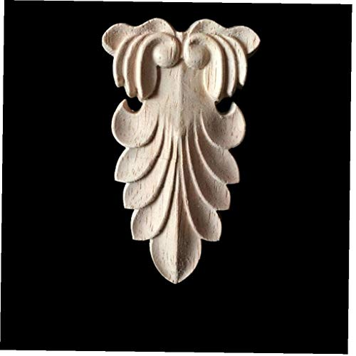 Weinlese Geschnitzte Holzapplikationen Holzschnitzerei Papier Corner Aufkleber Tür Set Dekoration Wand Türdeko