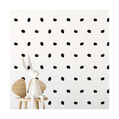 London Black Dot Room Stickers - calcomanías de arte de pared para niñas niños guardería, dormitorio, sala de estar'london' negra dot room sticker 168 piezas