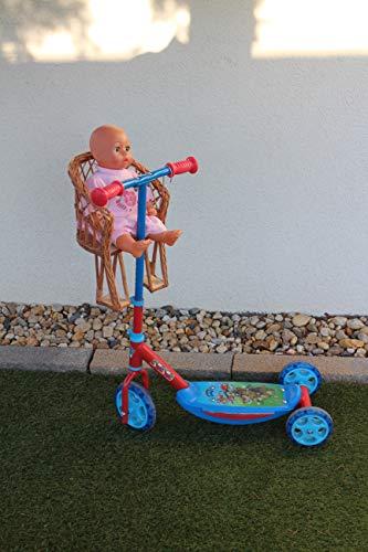 Marcus Weidenhandel Puppenfahrradsitz aus Weide Puppe Kuscheltiere Korb Fahrradkorb Fahrrad Kind Kinderspielzeug