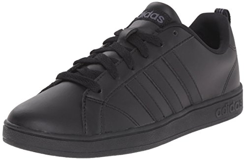 adidas NEO Advantage VS K Sneaker (Little Kid/Big Kid),Black/Black/Silver,4.5 M US Big Kid