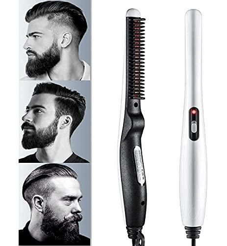 ADRIAN Quick Hair Styler for Men Electric Beard Straightener Massage Hair Comb Beard Comb Multifunctional Curly Hair Straightening Comb Curler, Beard Straightener, Beard Straightener For Men (Multi)