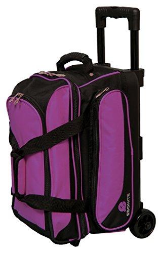 Ebonite Transport II Double Roller Bowling Bag, Purple