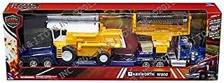 NEWRAY 1:32 Long HAUL Trucker - Kenworth W900 LOWBOY Trailer with Farm Harvester