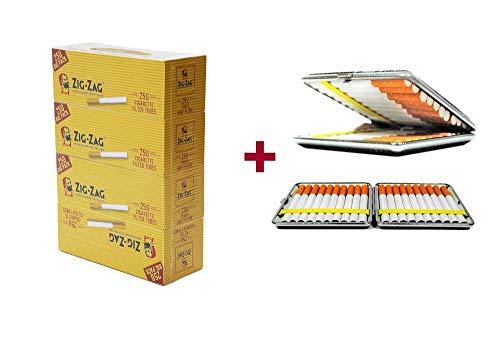 OCB Zig Zag Zigaretten Hülsen, 4X 250er Big Pack + Etui von SweedZ
