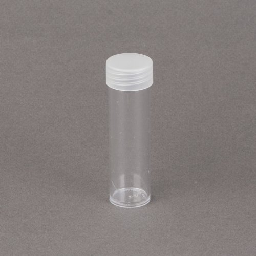 (100) Round Clear Plastic (Penny Cent) Size Coin Storage Tube Holders Screw on Lid